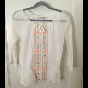 Old Navy sheer white top
